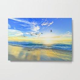Freedom is an empty beach Metal Print