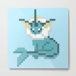 Pixel Vaporeon Metal Print