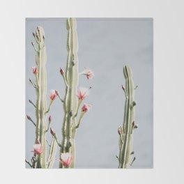 Cereus Cactus Blush Throw Blanket