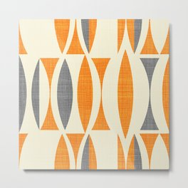 Seventies  orange Metal Print