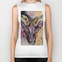 goat Biker Tanks featuring Goat by Derek Boman