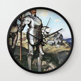 12,000pixel-500dpi - Knight Saint George - Hans Thoma Wall Clock