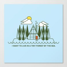 Tiny Forest by the Sea Canvas Print