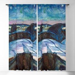 Edvard Munch - Starry Night Blackout Curtain