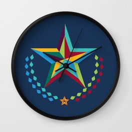 Preppy Star Wall Clock