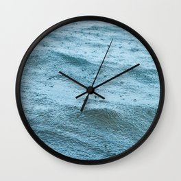 Rain & the Sea Wall Clock