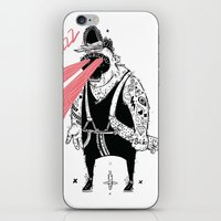 the dude iPhone & iPod Skins featuring dude by Dávid Kurňavka