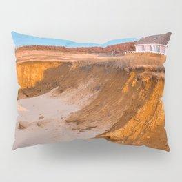 Thunder Cove Beach Cliffs - Golden Pastel Hour Pillow Sham