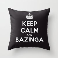 bazinga Throw Pillows featuring Bazinga by S.YassinPhotography
