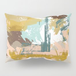 Suspicious Actions, Abstract Landscape Art Pillow Sham