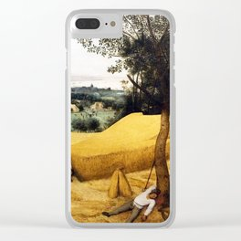 The Harvesters Painting by Pieter Bruegel the Elder Clear iPhone Case