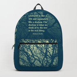 Tree of Character VINTAGE BLUE / Deep thoughts by Abe Lincoln Backpack