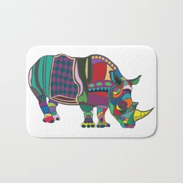 Abstract Rhino Bath Mat
