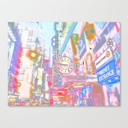 40th & 8th - Midtown, NYC ( Glossy ) Canvas Print
