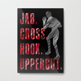 Shadow Boxing, Boxer Workout Jab Cross Hook Uppercut Metal Print