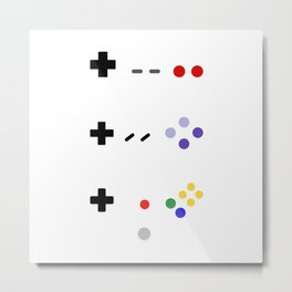 90's Gaming - Purple & Primary Colors Metal Print