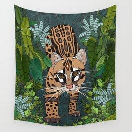 ocelot jungle nightshade Wall Tapestry