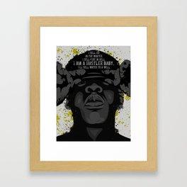 """""""I'm a Hustler"""" Framed Art Print"""