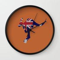 australia Wall Clocks featuring Australia by Caio Trindade