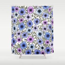 Poppy Purples Shower Curtain