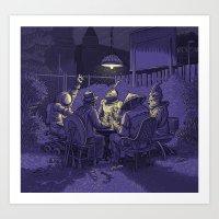 poker Art Prints featuring Poker by Siou Escallon