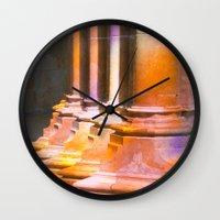 stone Wall Clocks featuring stone by Tereza Del Pilar