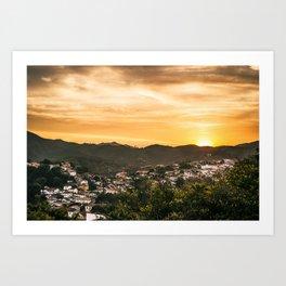 Fim de tarde em Ouro Preto Art Print