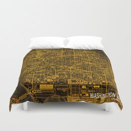 Washington West Columbia map year 1945 Duvet Cover