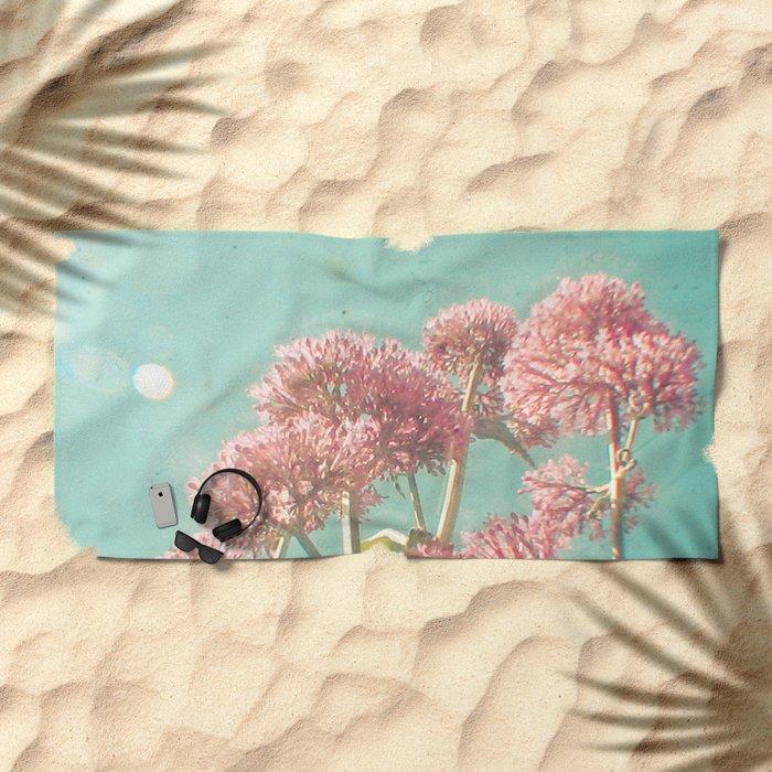 Pink Milkweed Beach Towel