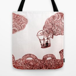 Nesi and the flying machine Tote Bag