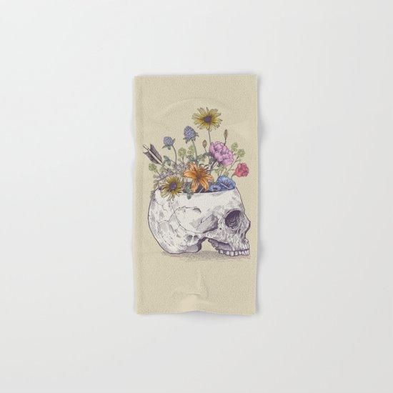 Half Skull Flowers Hand & Bath Towel