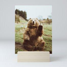 Hi Bear Mini Art Print