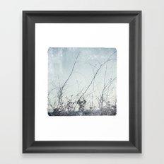 sea plants (light blue) Framed Art Print