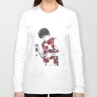 coconutwishes Long Sleeve T-shirts featuring Floral Louis by Coconut Wishes