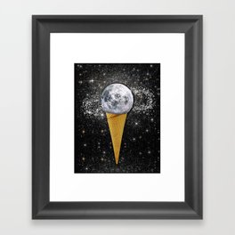 MOON ICE CREAM Framed Art Print