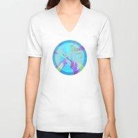 fringe V-neck T-shirts featuring Fringe Benefits by Neelie