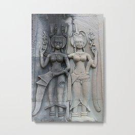 Women of Angkor Wat Metal Print