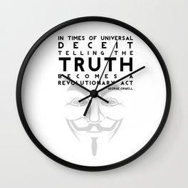 Truth Revolution Wall Clock