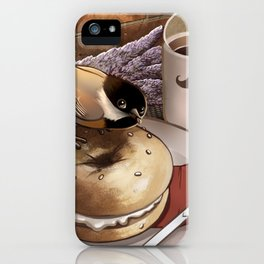 The Bagel Thief iPhone Case