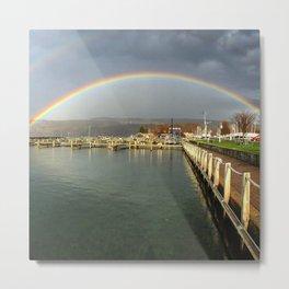 Rainbow over Seneca Lake Metal Print
