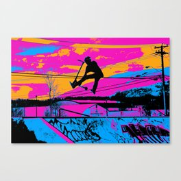 Lets Fly!  - Stunt Scooter Canvas Print