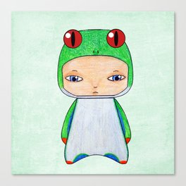 A Boy - Tropical Frog Canvas Print