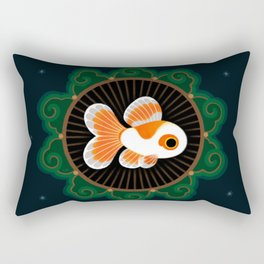 Butterfly goldfish - white Rectangular Pillow