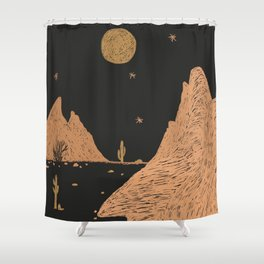 A Night in the Desert Shower Curtain
