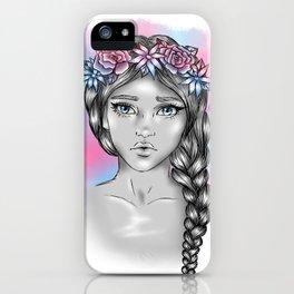 Flower Crown Girl iPhone Case