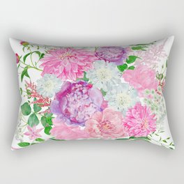 Pink bouquet of garden flowers Rectangular Pillow