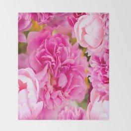 Large Pink Peony Flowers #decor #society6 #buyart Throw Blanket