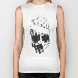 Pixalated Skull Biker Tank