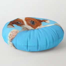 Cute Jack Russell Terrier Puppy Floor Pillow