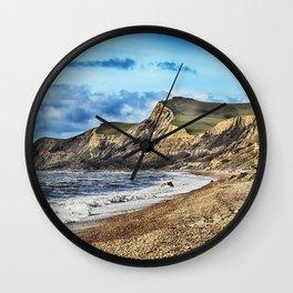 Coastline Cliffs Wall Clock